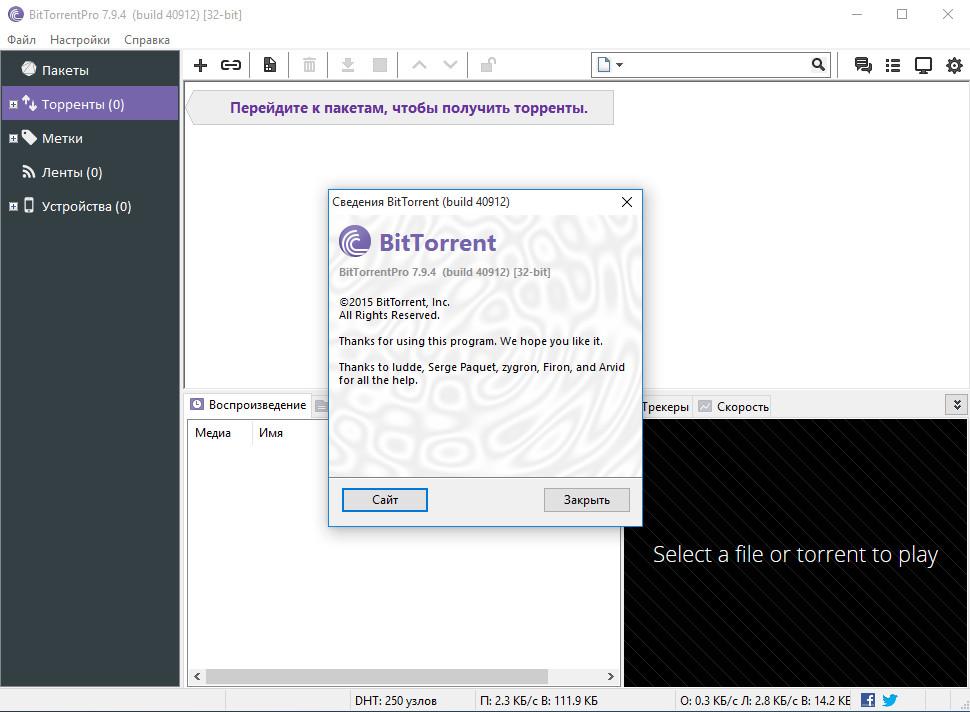 Интерфейс BitTorrent - рис.2