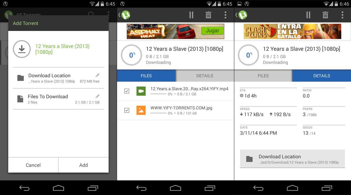 Выбор версии Utorrent для Android